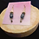 Thumbnail: Silver Filigree Earrings with Snowflake Obsidian