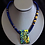 Thumbnail: Crackle & Pop Fused Glass Necklace
