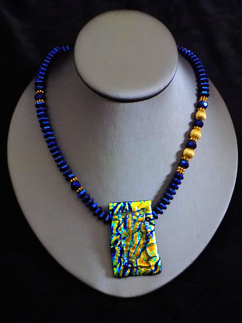 Crackle & Pop Fused Glass Necklace