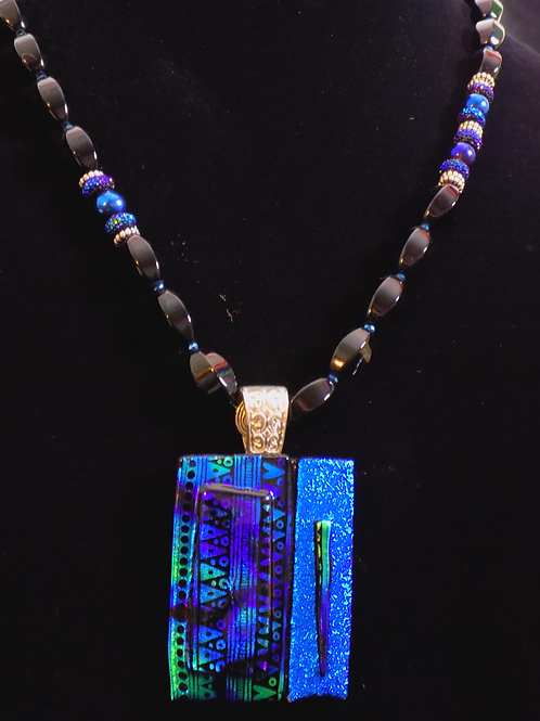 Looking Forward Fused Glass Necklace