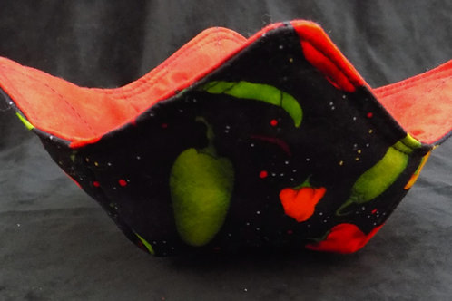 Microwave Bowl Cozy: Chili Peppers