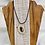 Thumbnail: Antler Necklace on Black Leather Cord