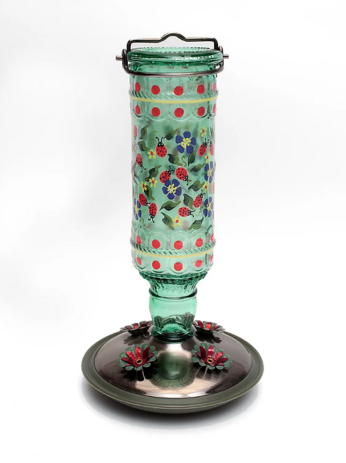 Ladybugs and Forget-Me-Nots Hummingbird Feeder