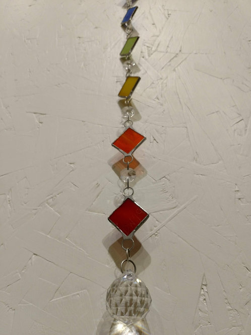 Chakra Stained Glass Sun Catcher