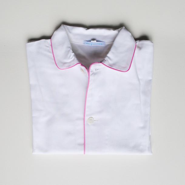 pigiama bimbo bianco e profilo rosa
