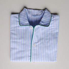 pigiama bimbo righino azzurro e profilo verde