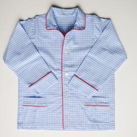 pigiama bimbo quadretto azzurro