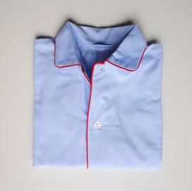 pigiama bimbo tinta unita azzurro