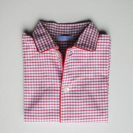pigiama bimbo quadretto rosso