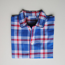 pigiama bimbo scozzese blu