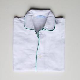 pigiama bimbo bianco e profilo verde