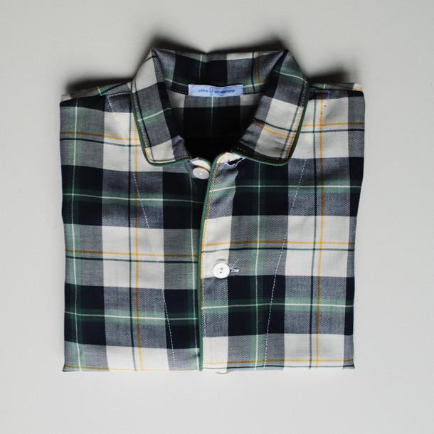 pigiama bimbo scozzese verde