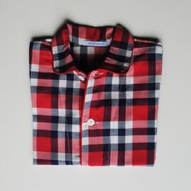 pigiama bimbo scozzese rosso