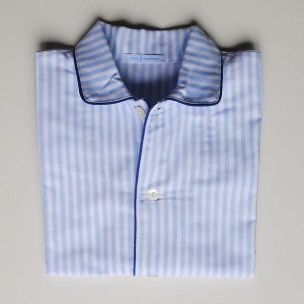 pigiama bimbo righino azzurro e profilo blu