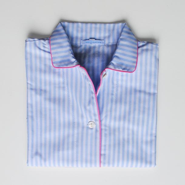 pigiama bimbo righino azzurro e profilo rosa