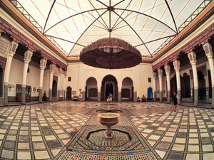 Inside the impressive Museum of Marrakech, Morocco