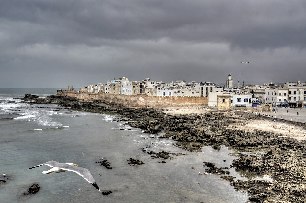 Historical fences and walls in Essaouira