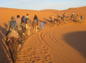 An exciting journey and adventure in the Moroccan Sahara