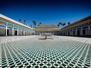 Inside the legendary Bahia Palace in Marrakech, Morocco