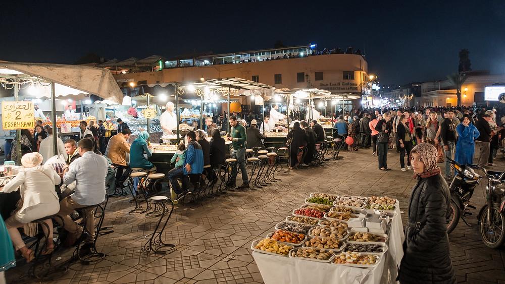 market stall marrkech