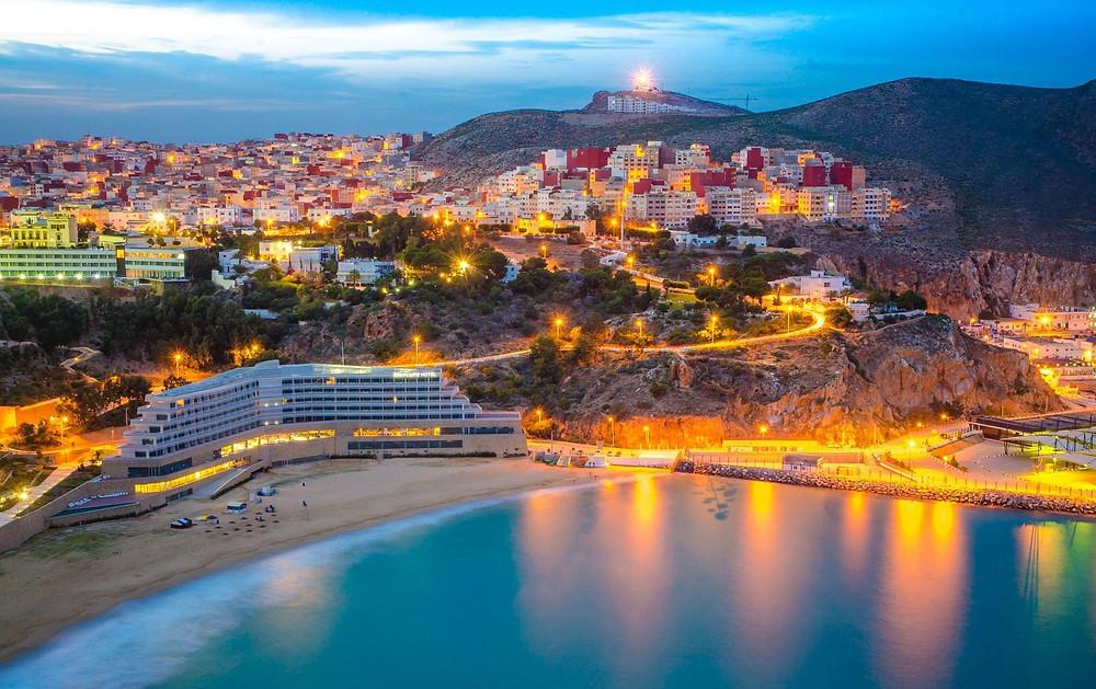 El-Houceima city, Rif Mountains, Mediterranean Sea