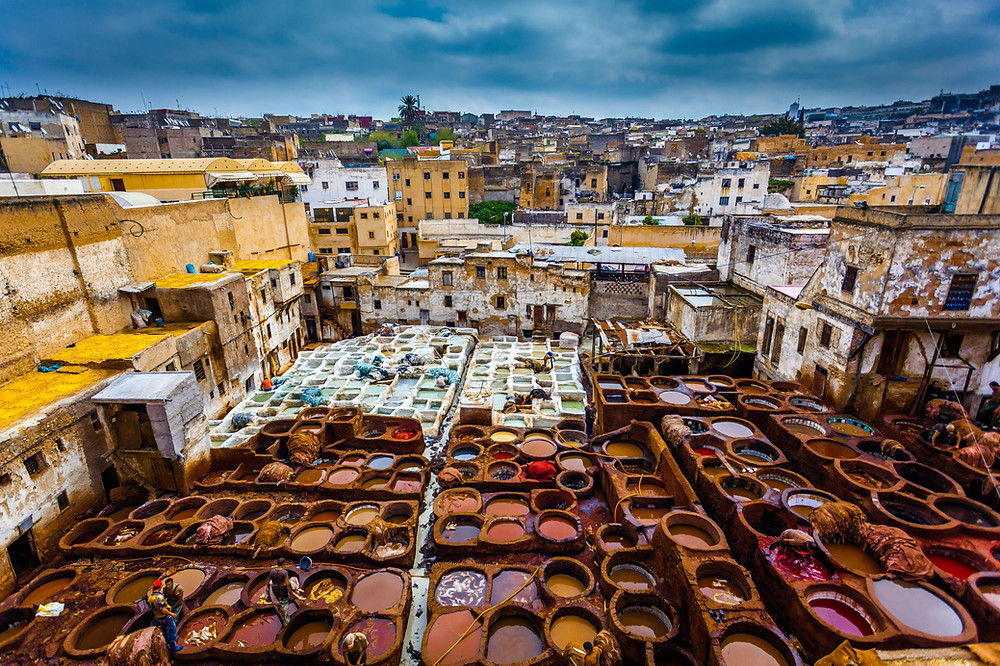 leather tanneries of Fez, Morocco