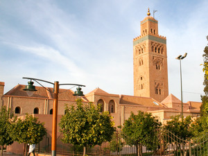 The magnificent Koutoubia mosque in Marrakech, Morocco