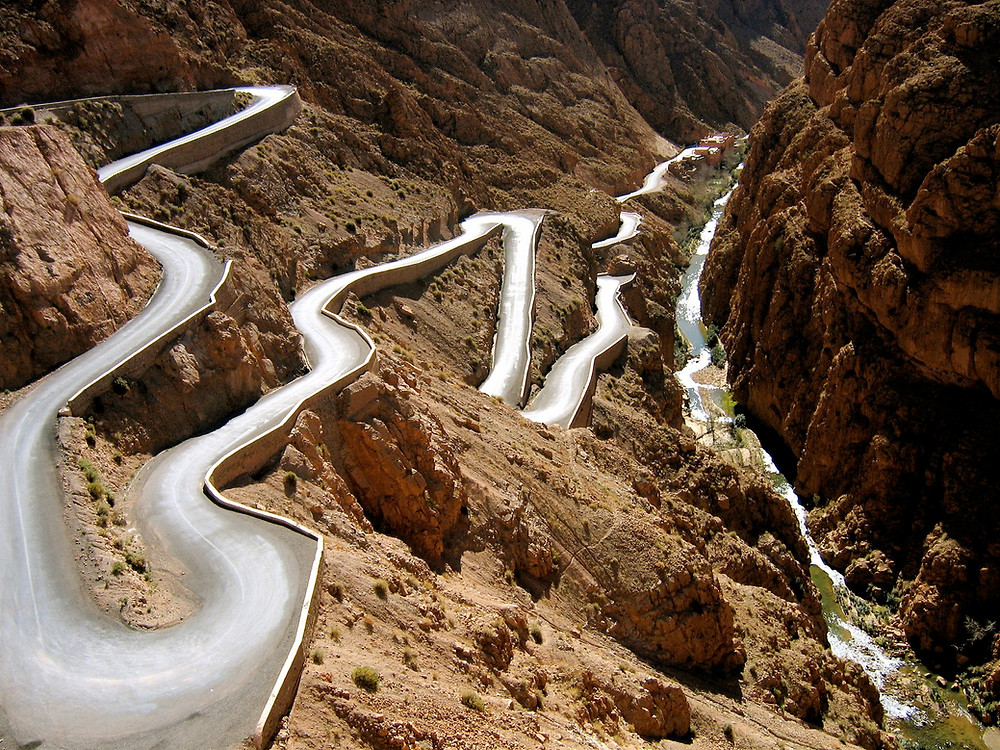the gorges of Dades in Morocco