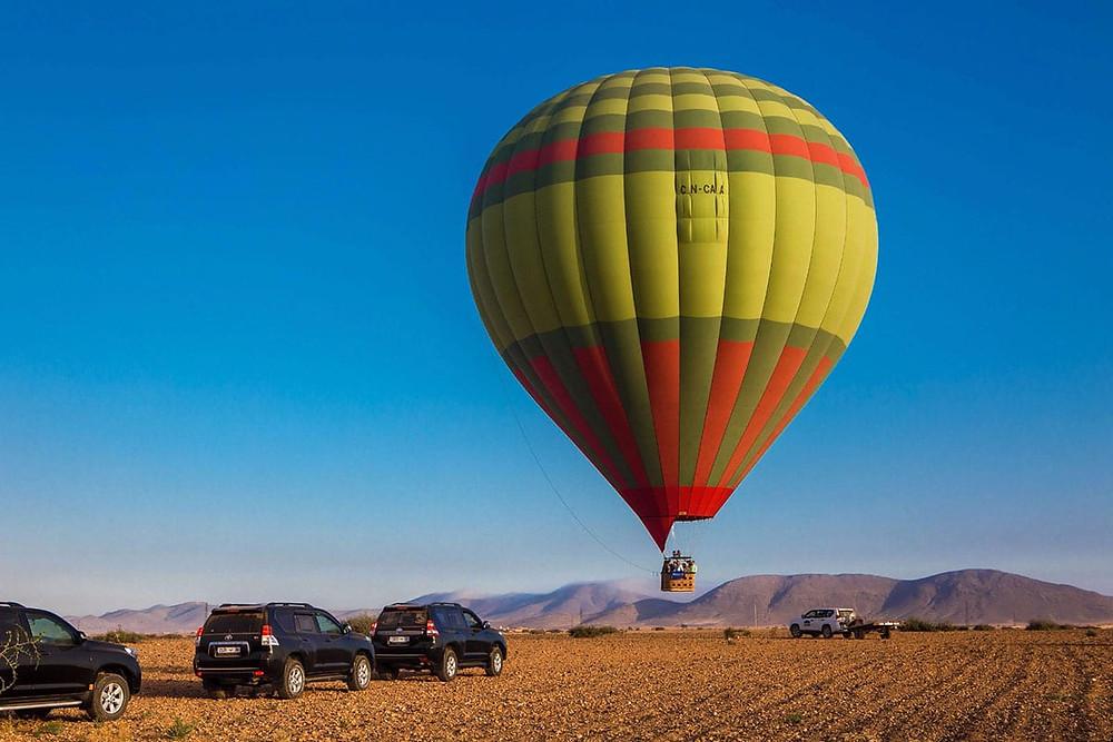 Atlas Mountains air balloon morocco