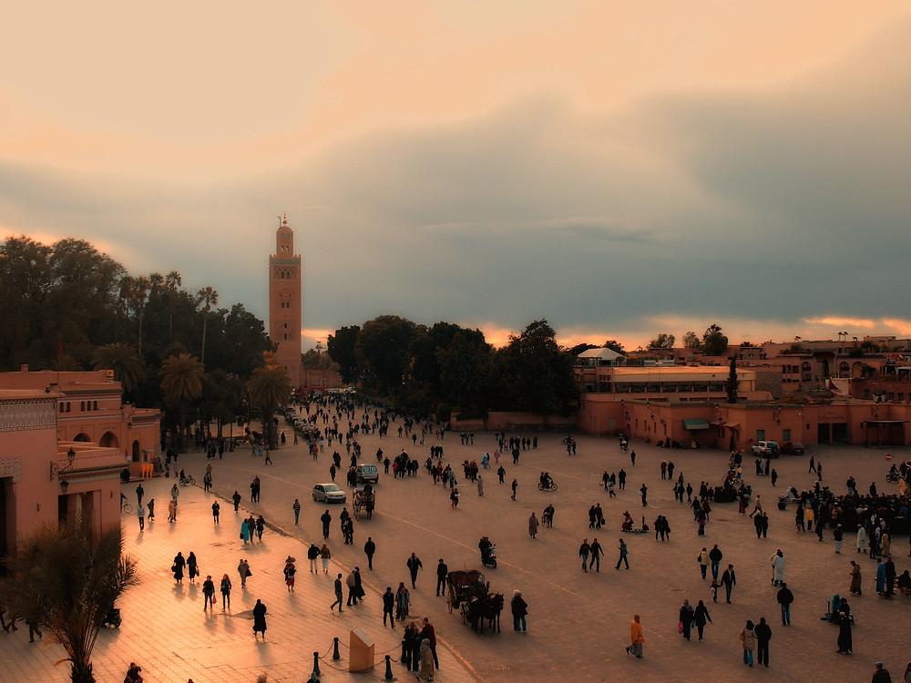 Jamaa el fna marrakech morocco