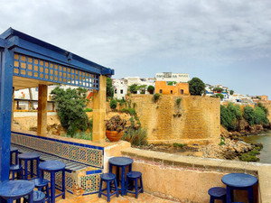 Inside the stunning Kasbah of Oudaya in Rabat, Morocco