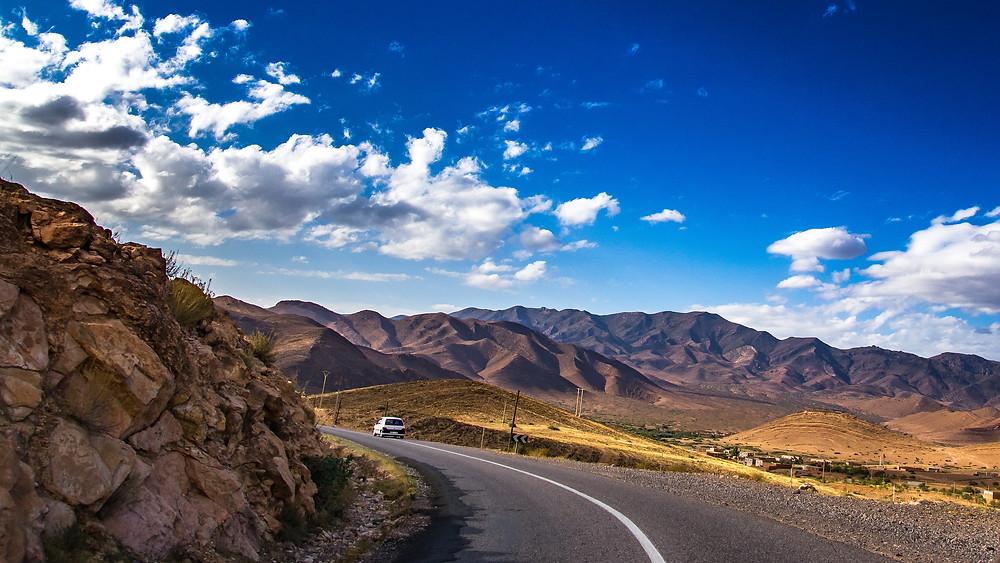 Towards the High-Atlas mountains.