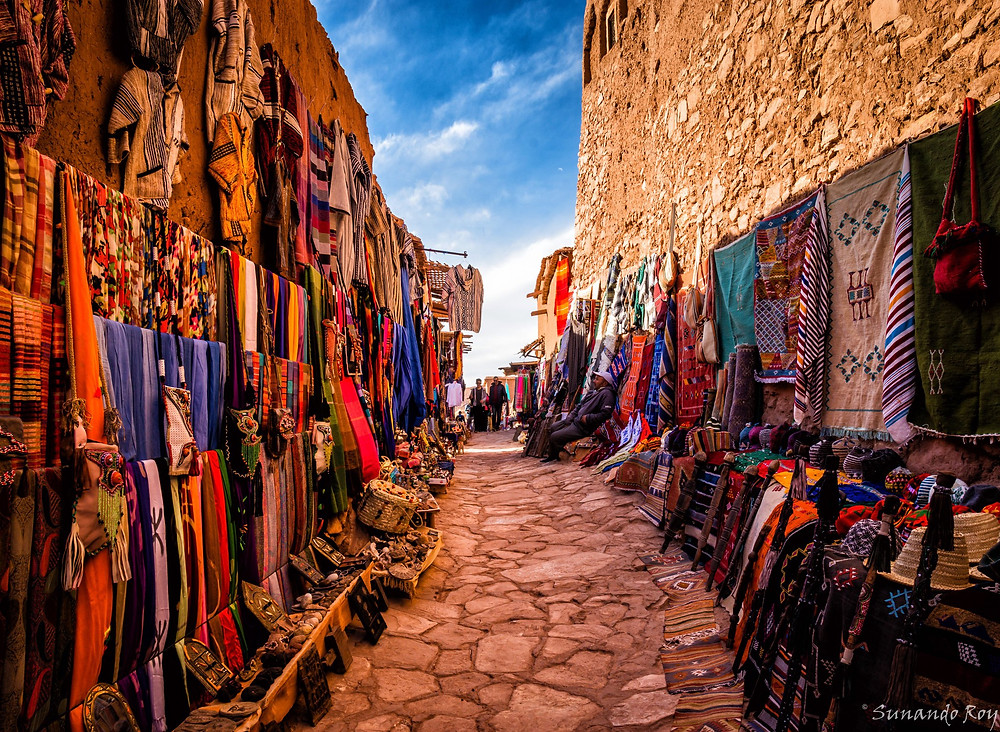 ouarzazate souks morocco