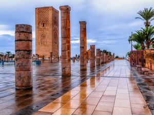 Discover the magnificent Hassan tower in Rabat, Morocco