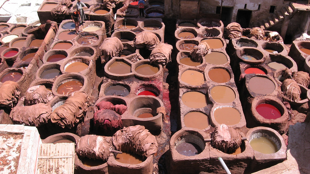 leather tanneries fes morocco