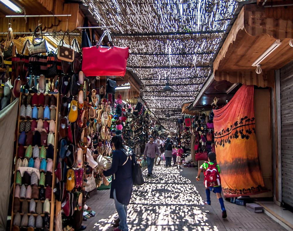 """Rue des Consuls"""" Souk in the medina Rabat Morocco"""
