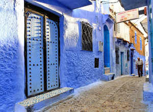 The blue paradise of the breathtaking Chefchaouen medina in Morocco