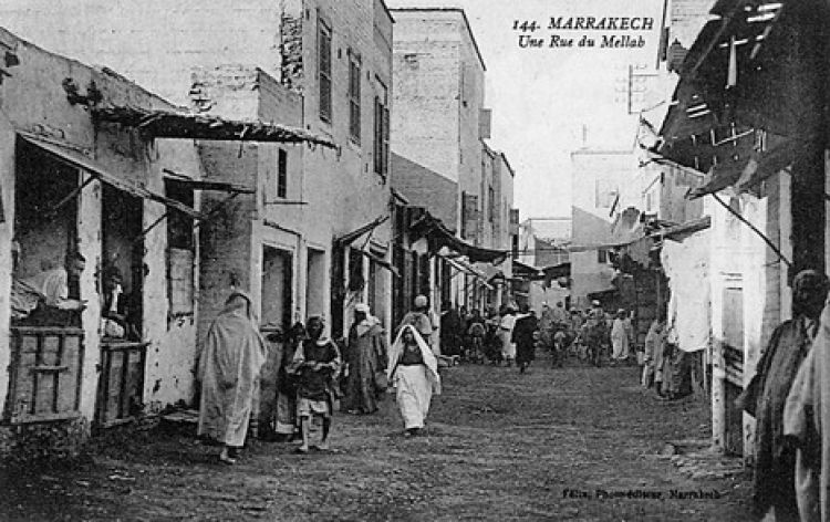 The Jewish Quarter in Marrakech, Morocco