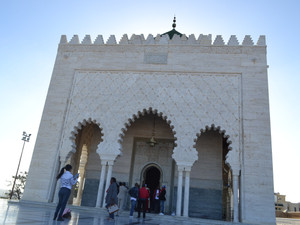 Inside the breathtaking mausoleum of Mohammed V in Rabat, Morocco