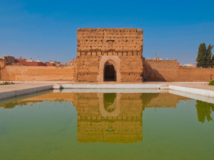 The magnificent El Badi Palace in Marrakech, Morocco