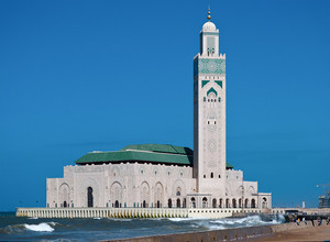 Inside the great Hassan II Mosque in Casablanca, Morocco