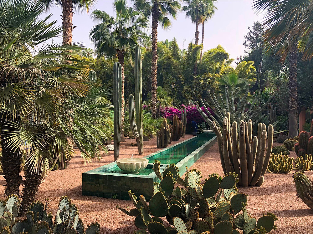 The manicured confines of the once-secret garden within the grounds of Villa Oasis