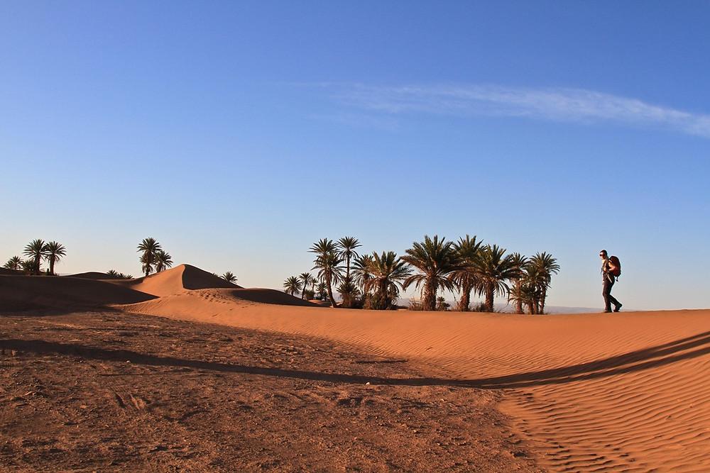 Erg Zahar in the Moroccon Sahara