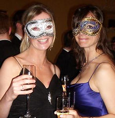 two girls at a masked Ball