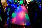 A bride dancing