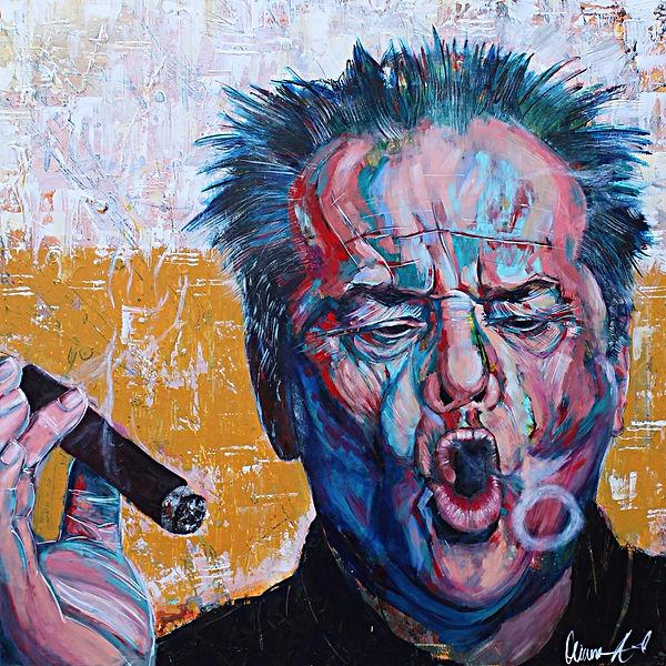Jack Nicholson Painting on Canvas