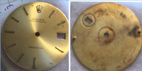 Gold Oysterdate Rolex dial
