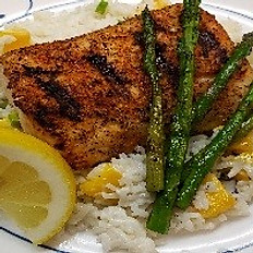 Blackened Mahi Mahi with Coconut Mango Rice