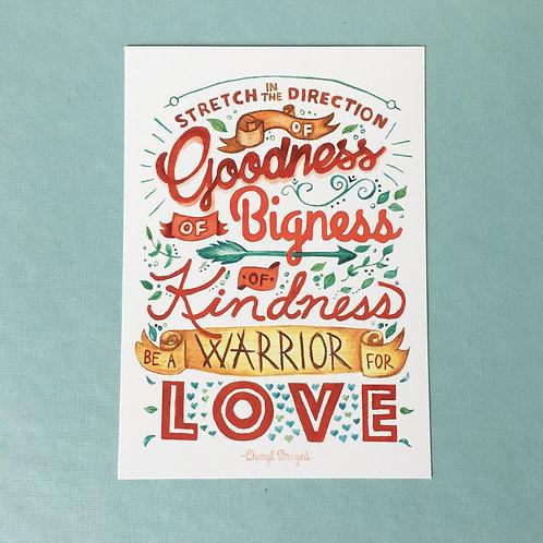 "Goodness & Bigness Poster (11""x 17"")"