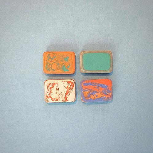Write, Erase, Repeat. Le Typographe Letterpress Marble Mini Erasers
